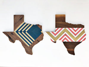 "MIDNIGHT DECO TEXAS - 24"" (One-of-a-Kind)"
