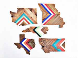 "CHEVRON MISSOURI - 15"" (One-of-a-Kind)"