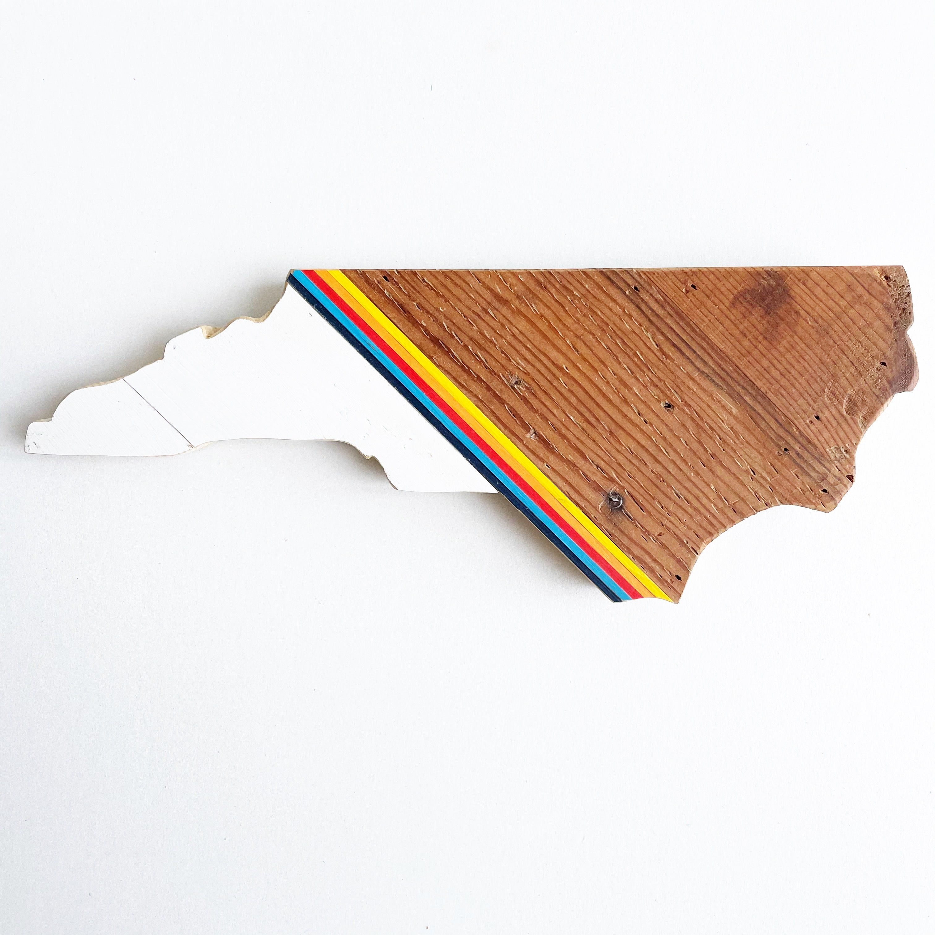 Retro North Carolina Wall Hanging 15 in | One of a Kind