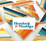 "Load image into Gallery viewer, '76 Triangle Business Card Holders - 6"" (One-of-a-Kind) - Hemlock & Heather"