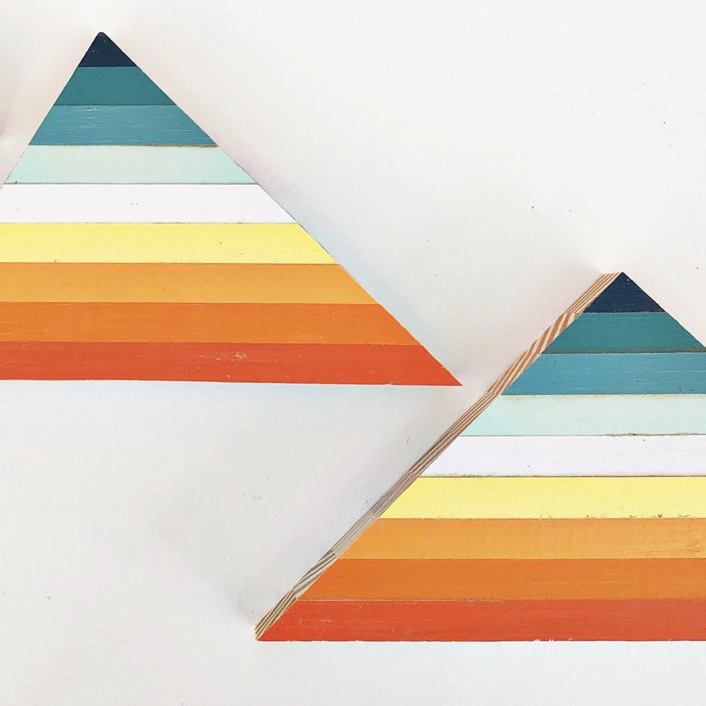 "TRIANGLE SHELF ART - 3-10"" (One-of-a-Kind)"