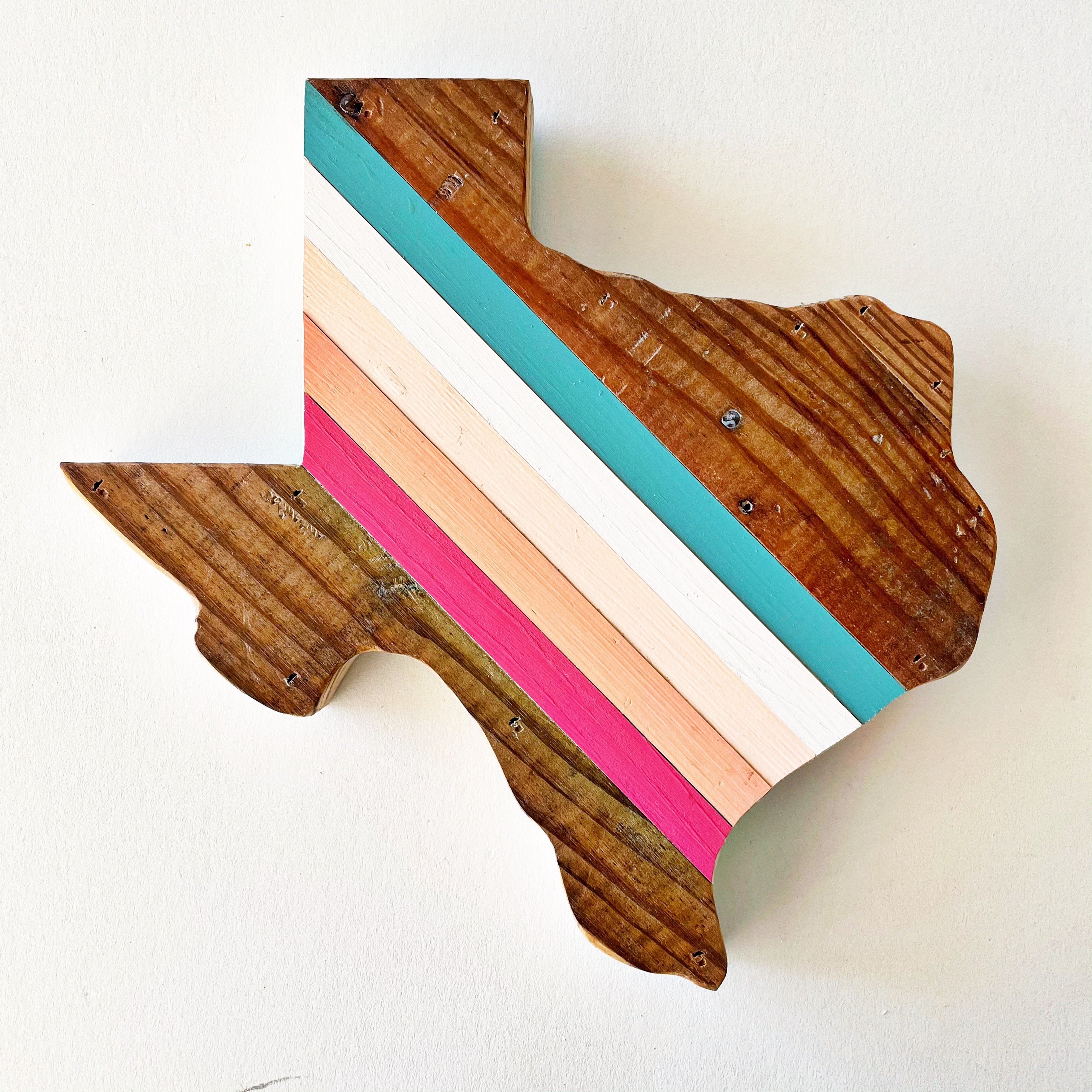 Retro Texas Wall Hanging 12 in | One of a Kind