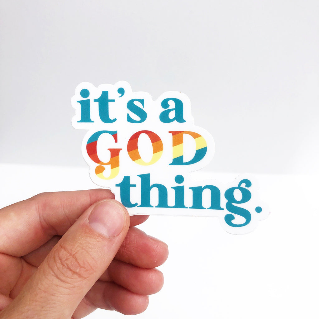 "'76 - ""IT'S A GOD THING."" Sticker"