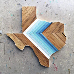 "CHEVRON TEXAS - 15"" (Custom Order for Rachael H.) - Hemlock & Heather"