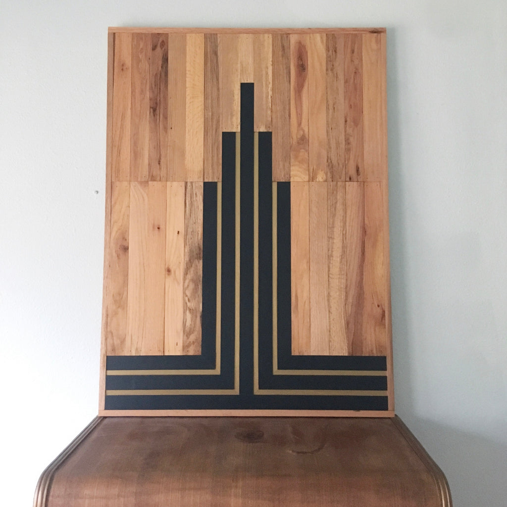 "MIDNIGHT ART DECO - 32"" x 42"" (One-of-a-Kind)"