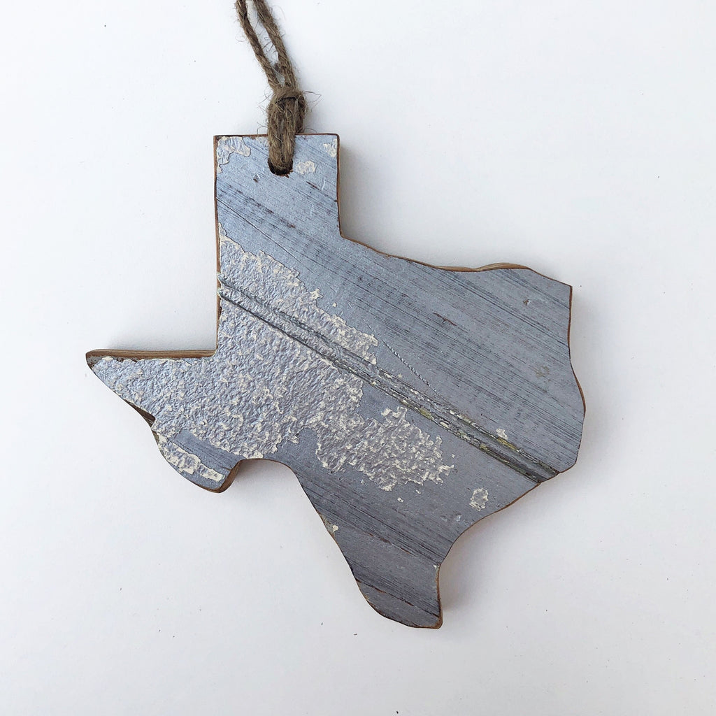 "6"" Texas Ornament - Silver"