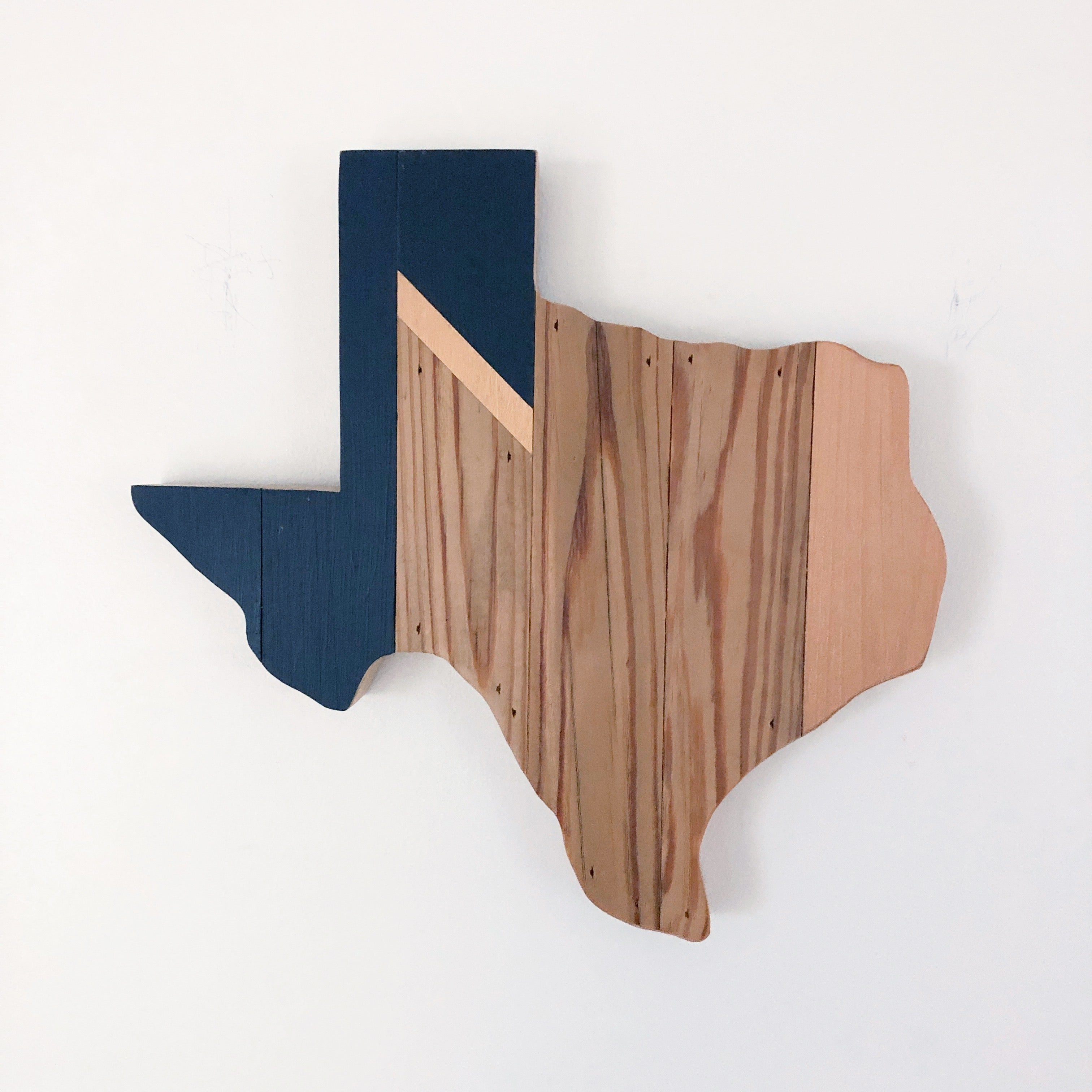 Geo Texas Wall Hanging 12 in | One of a Kind