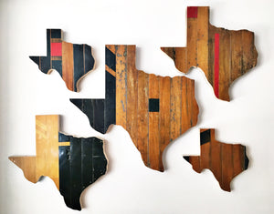 Hoosiers Texas Wall Hanging 18 in | One of a Kind