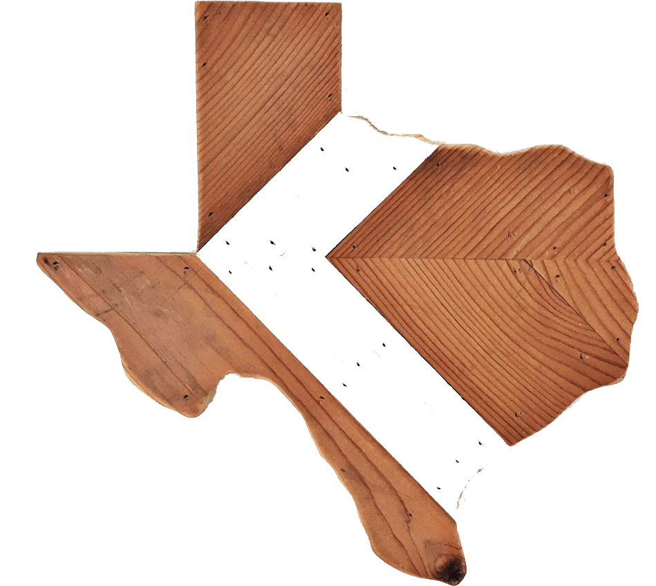 Wood Texas with Customizable Chevron Inlay