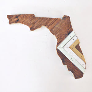 Reclaimed Wood Florida Wall Art