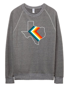'76 CHEVRON Unisex Sweatshirt - Hemlock & Heather
