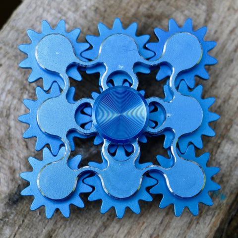 Blue Multi Gear Fidget Spinner