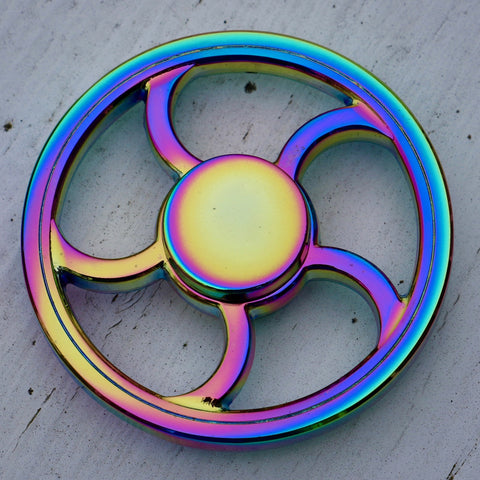 Rainbow Fan Design Fidget Spinner