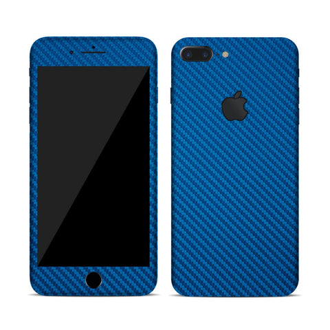 Vinyl Carbon Fiber Skin for iPhone - Blue