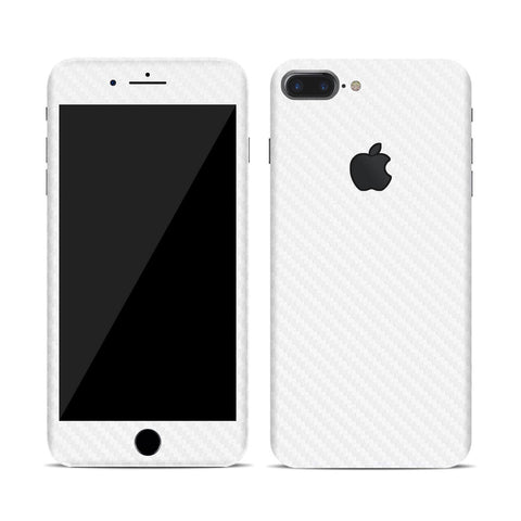 Vinyl Carbon Fiber Skin for iPhone - White