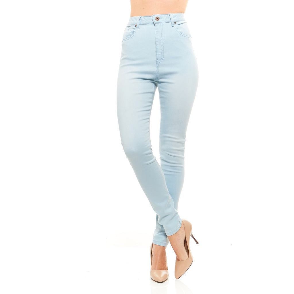 Red Jeans Women's Lynn High Waist Skinny Soft Denim Jeans - terryjerrynguys
