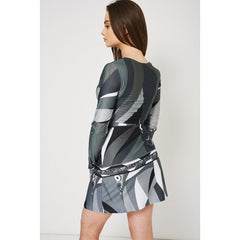 Grey Multi Tone Wrap Dress - terryjerrynguys