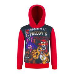 Boys & Girls  Five Night At Fred Hooded Shirt - terryjerrynguys