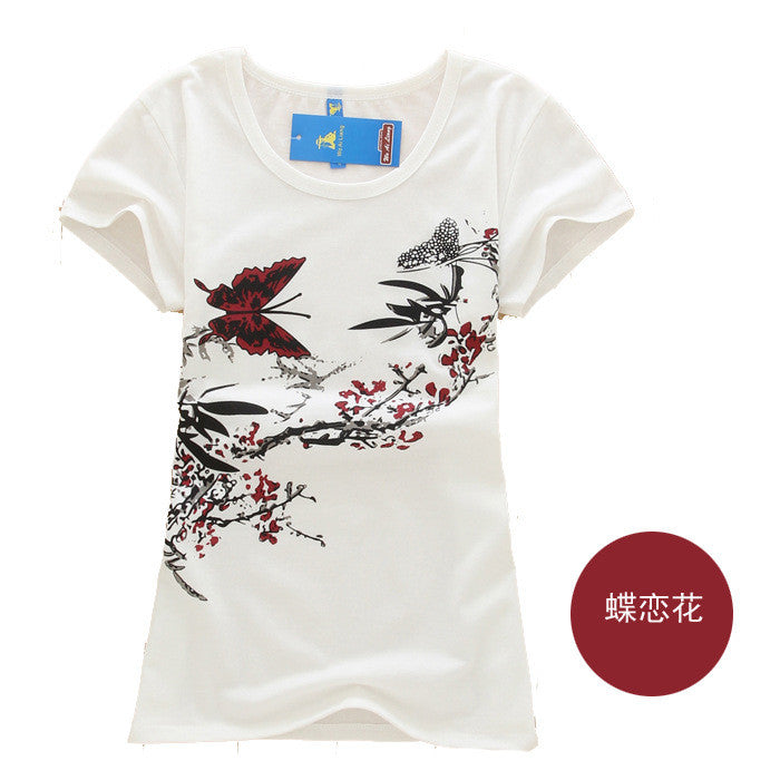 High quality loose tops short sleeve