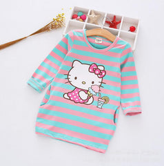 New Cartoon Cute kitty dress