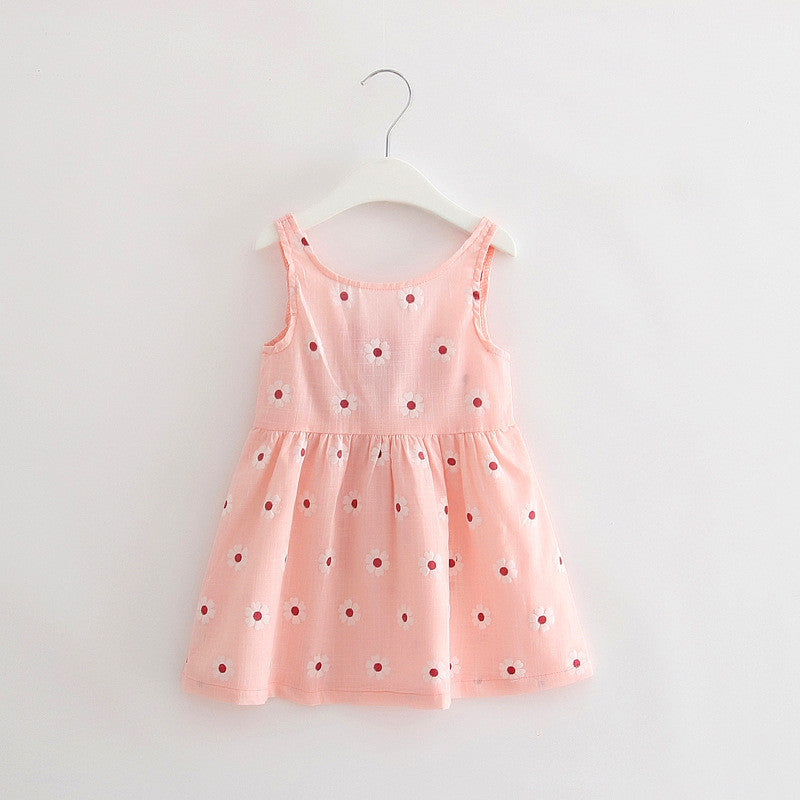 Cute Print Children Princess Dress