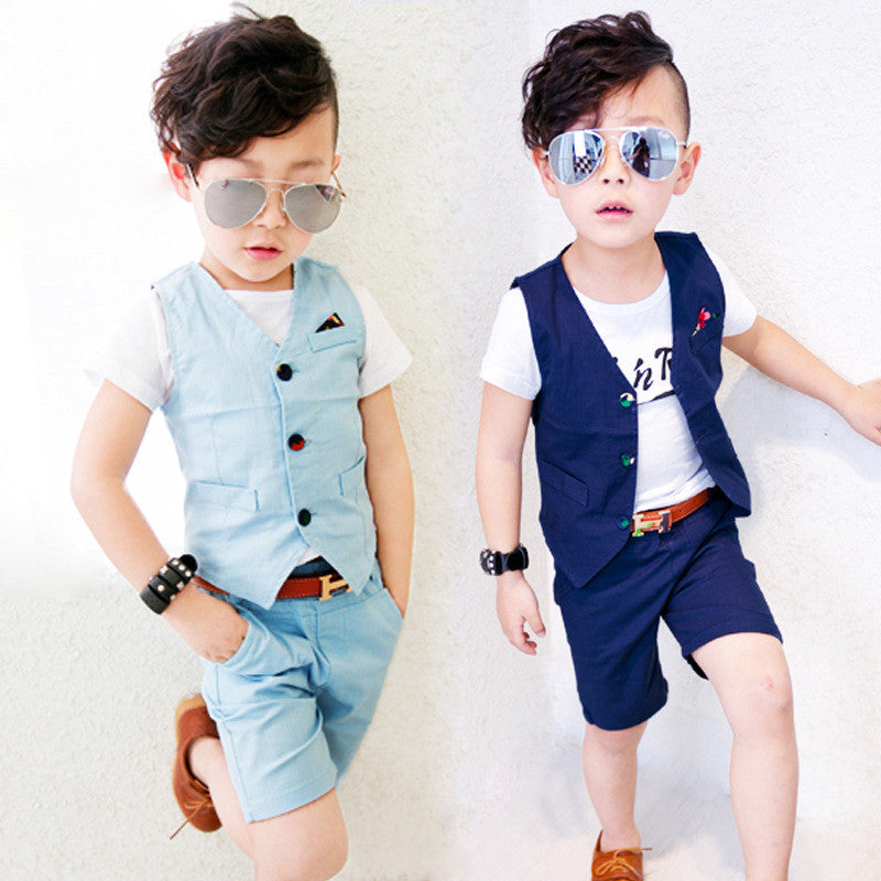 New Design Children Hemp Vest Suits