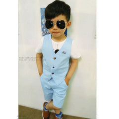New Design Children Hemp Vest Suits - terryjerrynguys