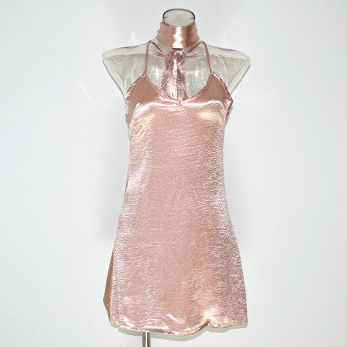Beautiful Satin Sexy  Mini Dress - terryjerrynguys