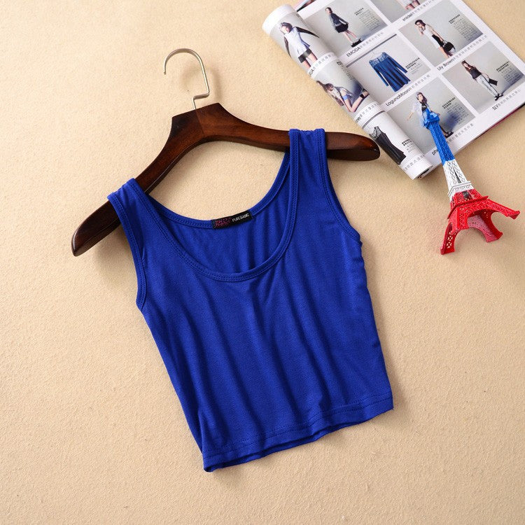 Summer Style Sleeveless U Vintage Top