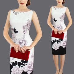Womens Elegant Vintage Flower Floral Print dress