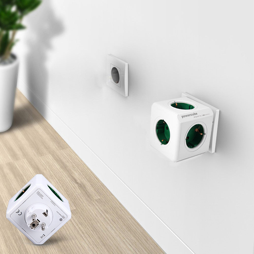 Hot sale! Allocacoc Charging Dock Original PowerCube Socket EU Plug 5 Outlets Adapter-16A 250V 3680w power cube