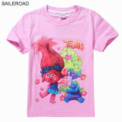 New Cartoon Trolls girls tees t shirt
