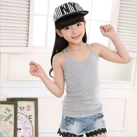 Kids Solid Candy Color 100% Cotton T Shirt