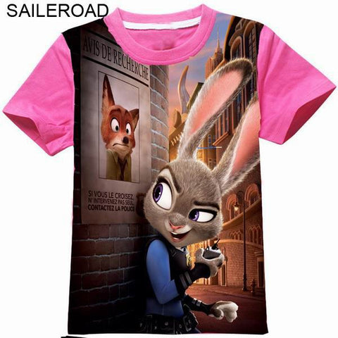 3D Printed Zootopia Girls T Shirts