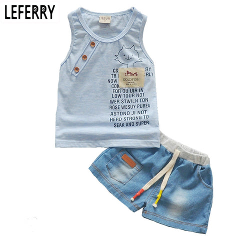 Baby Boy Summer Clothes Set Tank Top + Jeans - terryjerrynguys