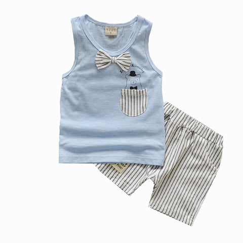 Baby Boy Summer Clothes Set Tank Top + Jeans