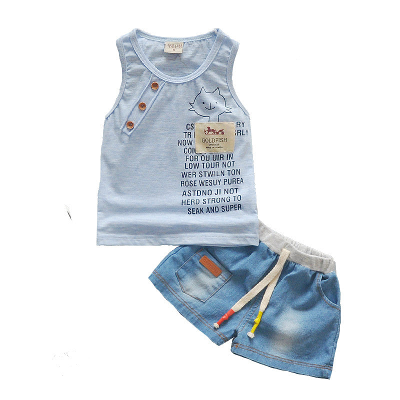 Boys Clothing Sets Tank Top + Shorts Sleeveless