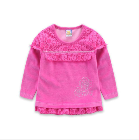 2017 new style velour baby girl cloth