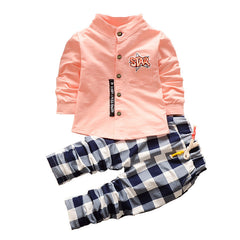 Spring Baby Boys Clothing Sets Shirt + Trousers