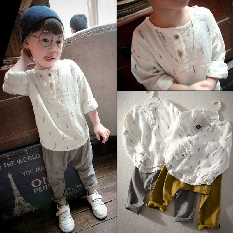 Casual Children's set Soft Linen Set