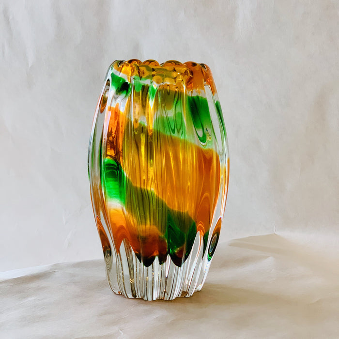 Chunky Murano Sommerso Glass Vase - Jewelry Bubble alt image blog