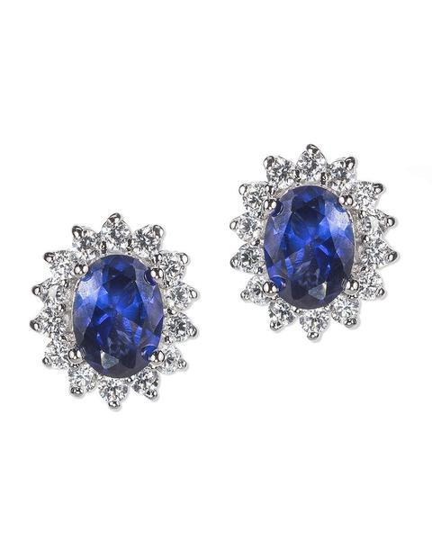 Clearly Bling Blue Princess Earrings - Jewelry Bubble alt image blog