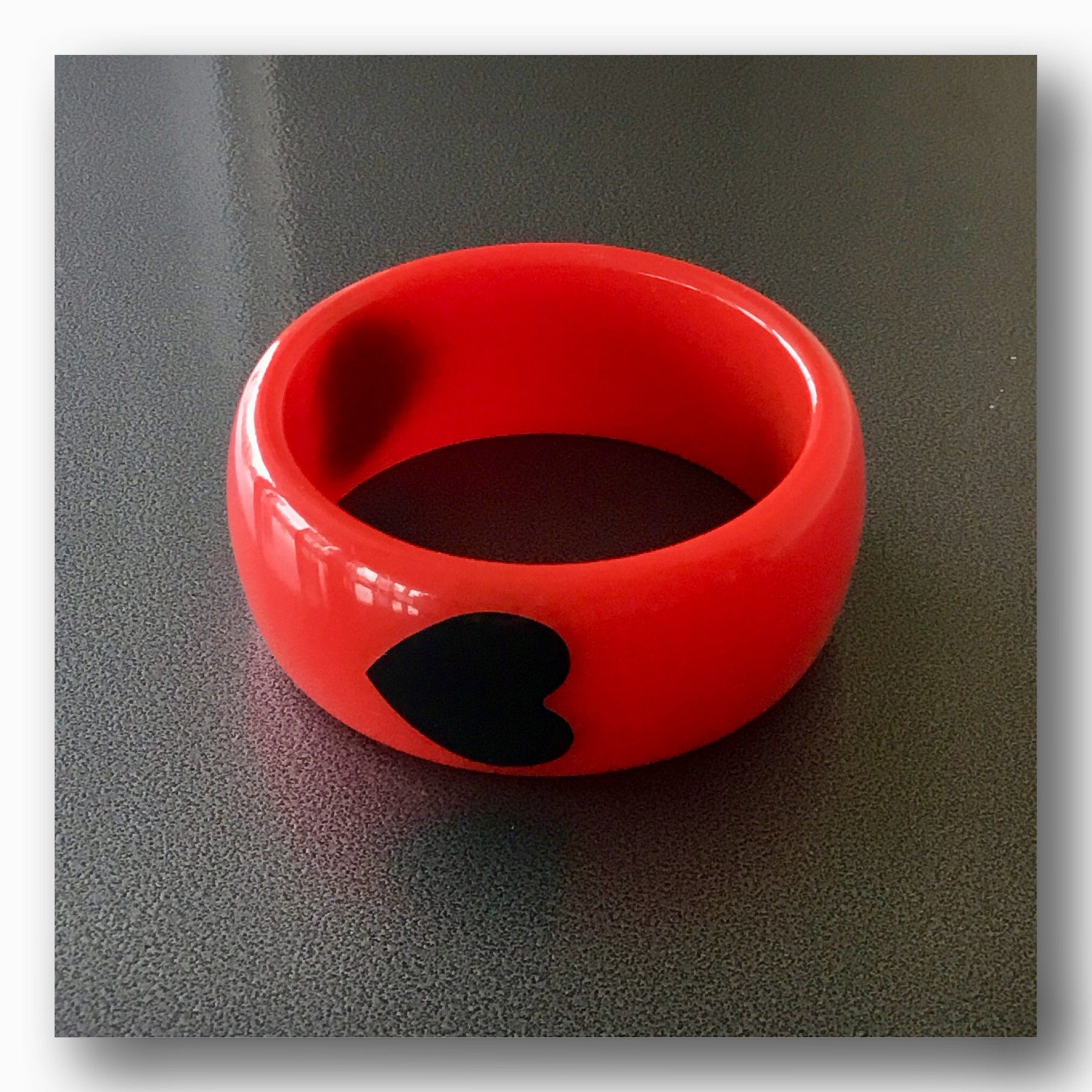 Vintage Valentine's Day Gift Idea Black Hearts Bangle - Jewelry Bubble alt image blog