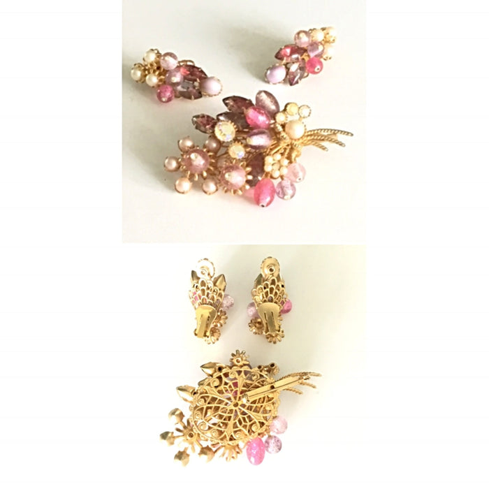 From the Vault Vintage Earrings, Brooch Set - Jewelry Bubble alt image blog