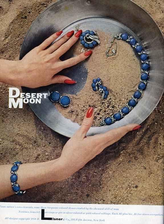 Lisner Jewelry, Desert Moon Bracelet & Earrings Set