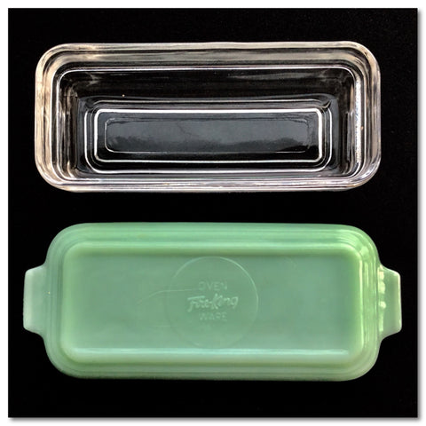 Fire King Jadeite Butter Dish with Clear Lid alt image jewelrybubble blog 1