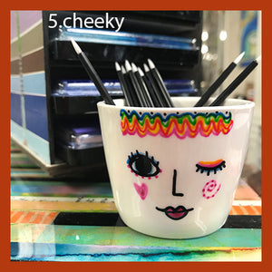 Picky Girls Hand-Painted Ceramic Mini Pots from Kae Pea