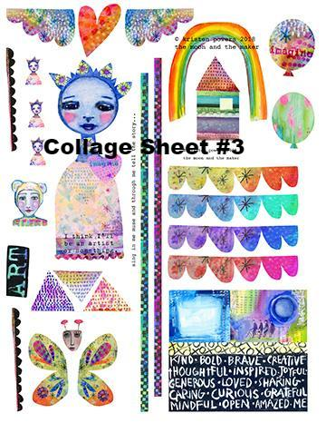 Paper Collage and Embellishment Sheets from Kae Pea via US Mail
