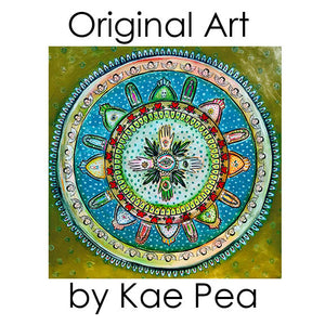 Milagros Mandala Original Mixed Media Painting by Kae Pea