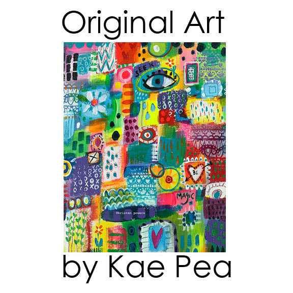 """seek magic"" original mixed media painting by kae pea"